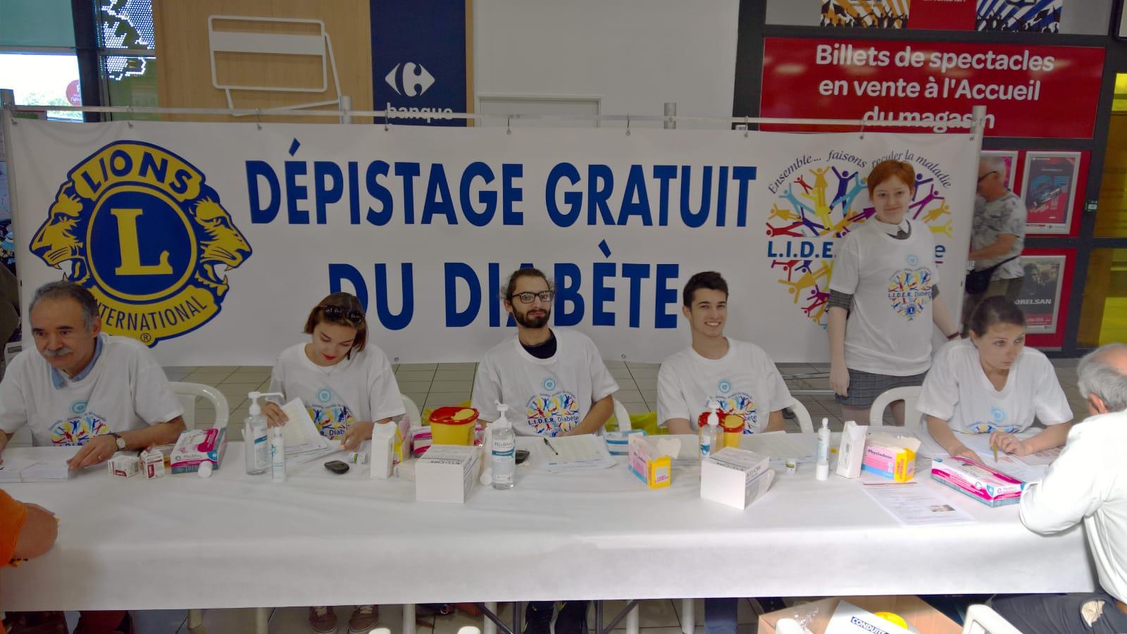 Opération dépistage du diabète à Carrefour Montélimar